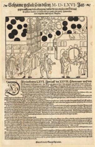 Een verschijnsel dat soms wordt vergeleken met het zonnewonder van 1917. In 1566 werden er in Basel rond de zon heldere en donkere schijven waargenomen. Mogelijk een combinatie van bijzonnen en nabeelden. Sommigen klasseren dit als ufo's.